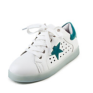Women's Shoes Leatherette Flat Heel Round Toe Fashion Sneakers Outdoor / Athletic / Casual Black / Green / Gray