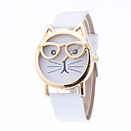 Women's European Style Cute Cartoon Cat Glasses Wrist Watches Cool Watches Unique Watches