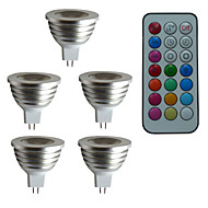 4W GU5.3(MR16) LED Spot Lampen MR16 1PCS High Power LED 300LM lm RGB Ferngesteuert / Dekorativ / Dimmbar DC 12 / AC 12 V 5 Stück