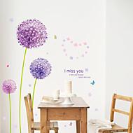 植物の / ロマンティック / フローラル柄 / 風景画 ウォールステッカー プレーン・ウォールステッカー,pvc 50*70CM