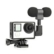 glad Frame 3,5 mm microfoon Standaard Frame Ministijl Stofbestendig Voor Gopro 5 Gopro 4 Gopro 4 Black Gopro 3 Gopro 3+Universeel Film en