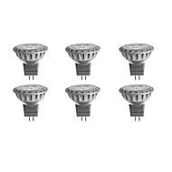 3W GU4(MR11) LED Spotlight MR11 SMD 2835 230 lm Warm White / Cool White / Natural White DC 12 / AC 12 V 6 pcs