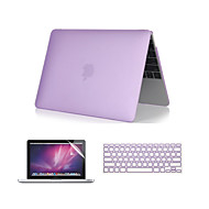 """3 in 1 kristalheldere soft-touch case met afdekking van het toetsenbord en het scherm protector voor macbook pro 13 """"/ 15 '' met retina"""