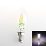 1個 Zweihnder E14 4W 4 COB 380 lm ナチュラルホワイト C35 装飾用 LEDキャンドルライト 交流220から240 V