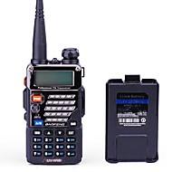 ハンドヘルド デジタル FMラジオ 音声プロンプト デュアルバンド デュアルディスプレイ デュアルスタンバイ LCDディスプレイ CTCSS/CDCSS 1.5KM-3KM BAOFENG 1.5KM-3KM 128 1800mAh 1枚 5/1 UV-5RB トランシーバー