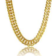 Męskie Łańcuszki na szyję Circle Shape Line Shape Powłoka platynowa Pozłacane Złocenie Stop Osobiste biżuteria kostiumowa Biżuteria Na