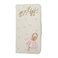 ручная работа побрякушки кристалл пу кожи с блестящими бриллиантами девушки балета откидная крышка для Samsung Galaxy S2 / S3 / S4 / s5