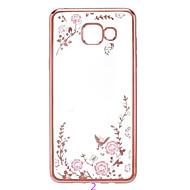 Secret Garden Flower Butterfly Diamond Soft TPU Cover for Samsung Galaxy A5(2016)/A7(2016)
