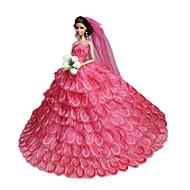 Fête / Soirée Robes Pour Poupée Barbie Rose Robes Pour Fille de Doll Toy
