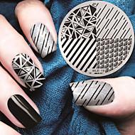 placas de molde da imagem stamping nail art padrão geométrico 2016 versão mais recente de moda
