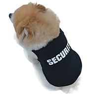 고양이 / 개 티셔츠 블랙 강아지 의류 여름 경찰/군인 웨딩 / 코스프레 / 패션