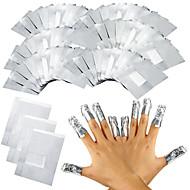 100pcs / lot folha de alumínio da arte do prego gel mergulhar off acrílico remoção de unha polonês envolve ferramenta de removedor de