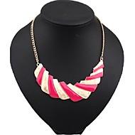 Damskie Oświadczenie Naszyjniki Perlový náhrdelník Perłowy Stop Modny Oświadczenie Biżuteria Słodkie Style Europejski Black Fuchsia