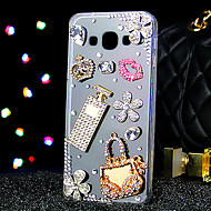 For Samsung Galaxy Case Rhinestone / Transparent Case Back Cover Case 3D Cartoon Acrylic Samsung A7 / A5