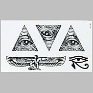 패션 문신 블랙 엔젤 눈 방수 문신 스티커