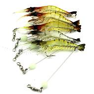 """1PC pcs Reje Tilfældige farver 7g/pc g/1/4 Unse,75-10mm/pc mm/3"""" inch,Plastik Madding Kastning / Flue Fiskeri / Trolling- & Bådfiskeri"""