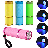 Wholesale sales of portable mini 9LED phototherapy machine UV ultraviolet lamp flashlight fast dry