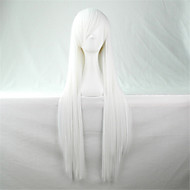 Europe And The United States The New Color Wig 80 CM Wide Long White Hair Wigs