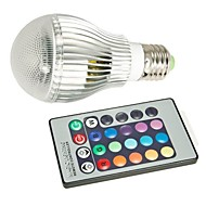 E27 85V-265V 400-550Lm 9W RGB Remote Control LED Colorful Bulbs