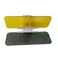 2 st 32 * 12 * 0,2 cm akryl dag och natt med dubbla användningsområden bil parasoll antireflexspegelglasögon