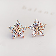 Beszúrós fülbevalók Divat Cirkonium Kocka cirkónia utánzat Diamond Star Shape Ezüst Aranyozott Ékszerek Mert Parti Napi Hétköznapi 1 pár