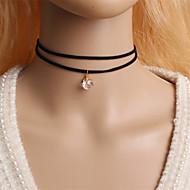 Modische Halsketten Halsketten Schmuck Halloween / Party / Alltag / Normal Doppelschicht / Modisch Aleación Schwarz / Weiß 1 Stück