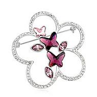 Naisten Rintaneulat Kristalli Animal Shape Butterfly Korut Käyttötarkoitus Häät Party
