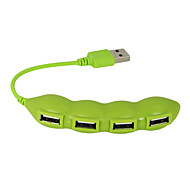 USB 2.0 4 porte / interfaccia hub USB fagiolo bella vegetale 11 * 2 * 1