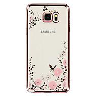 Na Samsung Galaxy Note Stras / Galwanizowane / Przezroczyste / Wzór Kılıf Etui na tył Kılıf Kwiat TPU Samsung Note 5 / Note 4 / Note 3