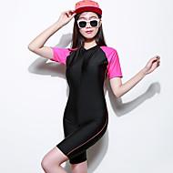 Női Dive Skins Rövid szörfruha Vízálló Ultraibolya biztos Teljes védelem Tactel Búvárruha Rövid ujjú Vízhőbuvárruha-Búvárkodás