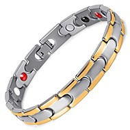 Healing Magnetic Therapy Bracelet Men/Woman 316L Stainless Steel Magnetic Silver Bracelet  Chain OSB-028
