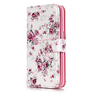 Small Pink Flowers Pattern Nine Cards Embossed PU Leather Material Phone Case for Galaxy S3/S4/S5/S6/S6 edge/S7/S7 edge