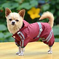 Koirat Sadetakki Punainen / Keltainen / Vihreä Koiran vaatteet Kesä / 봄/Syksy Yhtenäinen Vedenkestävä