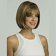 capless κορυφαίας ποιότητας συνθετικά μικτή χρώμα σύντομο ευθεία bob πλήρη περούκα