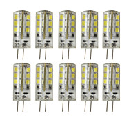 10pcs/lot DC 12V 2.5W G4 Dimmable LED Bi-pin Lights 24 SMD 2835 180-200 lm Warm White / Cool White Decorative