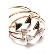 Női Karperecek Bilincs karkötők Bohemia stílus Személyre szabott jelmez ékszerek Ötvözet Geometric Shape Triangle Shape Ékszerek
