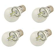 4W E26/E27 Żarówki LED kulki A60(A19) 20 SMD 2835 360 lm Zimna biel Dekoracyjna AC 85-265 / AC 220-240 / AC 100-240 / AC 110-130 V4