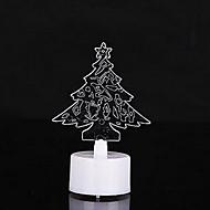 10個入り/カラフルなクリスマスツリーをパックキャンドル夜の光を主導