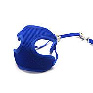 猫用品 / 犬用品 ハーネス / リード 調整可能/引き込み式 / 高通気性 純色 ブルー メッシュ