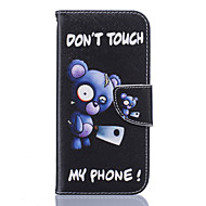 Blue Bear Pattern Card Phone Holster for Samsung Galaxy S5/S6/S7/S6 edge/S7 edge