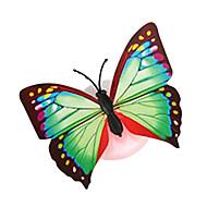 10個入り/パックランダムな色の蝶の吸盤の夜の光
