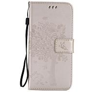 Mert Samsung Galaxy S7 Edge Kártyatartó / Pénztárca / Állvánnyal / Flip / Dombornyomott Case Teljes védelem Case Fa Puha Műbőr SamsungS7