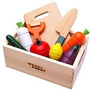 frutas e legumes cortados brinquedos casa alimentos jogar bebê de madeira magnéticos