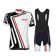 KEIYUEM Moto/Ciclismo Camisa + Shorts / Conjuntos de Roupas/Ternos Unissexo Manga CurtaImpermeável / Respirável / Secagem Rápida / Á