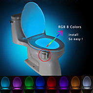 BRELONG Motion Activated Toilet Nightlight, LED Toilet Light Bathroom Washroom