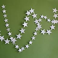 4m Pearl Cardboard Stars Charm Strap Brace Garland Decorated Festive Wedding Party Items