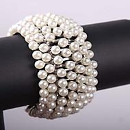 Damskie Bransoletki Strand Bransolety Tenis Modny Perłowy Stop Biżuteria Biżuteria Na Impreza