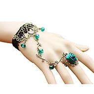 Brățări Ring Bracelets Cristal / Aliaj / Dantelă Vintage Petrecere Bijuterii Cadou Negru / Roșu / Verde,1 buc