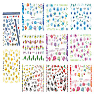 1pcs Include 11 Styles Nail Art  Stickers Simulate Design Colorful Flowers Image  E314-324