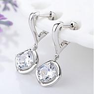 Imitatieparel Modieus Aanbiddelijk Parel Legering Cirkelvorm Zilver Sieraden Voor Feest Dagelijks 1 paar